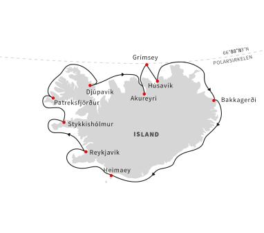 Seilas rundt Island – alver, sagaer og vulkaner (Reise 2)