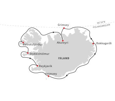Seilas rundt Island – alver, sagaer og vulkaner (Reise 1)