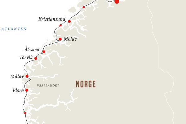 Et nærbilde av et kart
