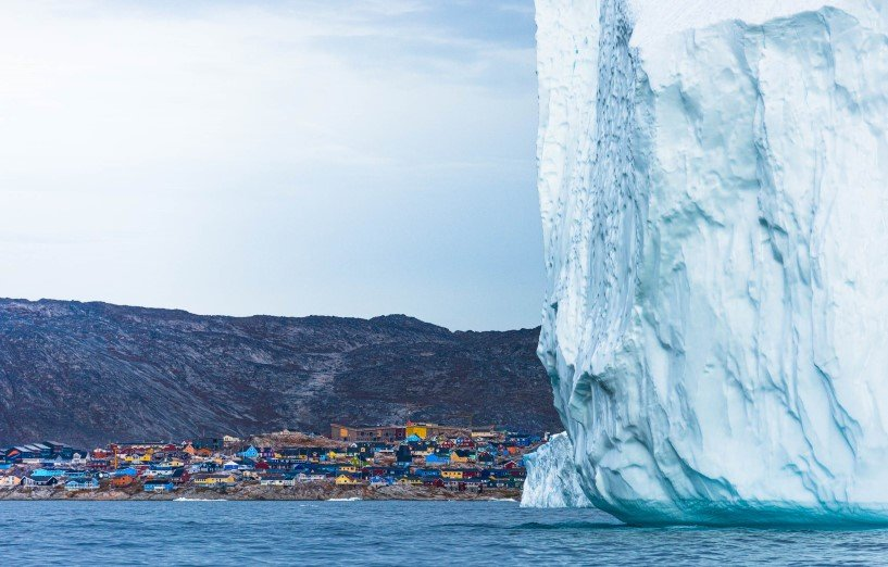 Huge iceberg in front of Ilulissat, Greenland.
