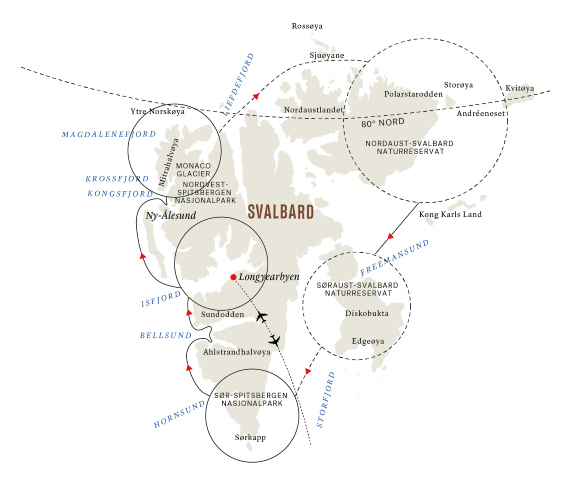 Svalbard rundt – den ultimate ekspedisjonen (Reiseplan 2) 2021