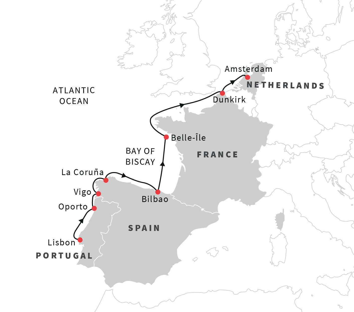 Cruise the western coast of europe lisbon to amsterdam spring 2019 see unesco world heritage sites along the european coast gumiabroncs Images