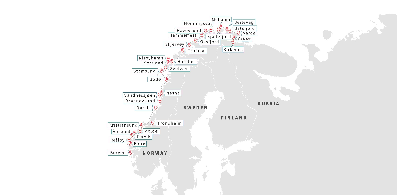 Norway Ports Flor Hurtigruten Hurtigruten