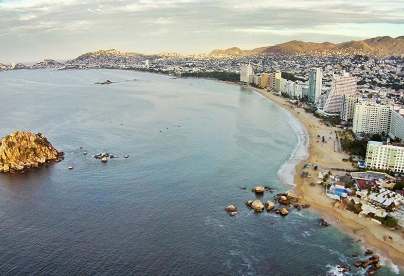 Sky view of Acapulco in Mexico