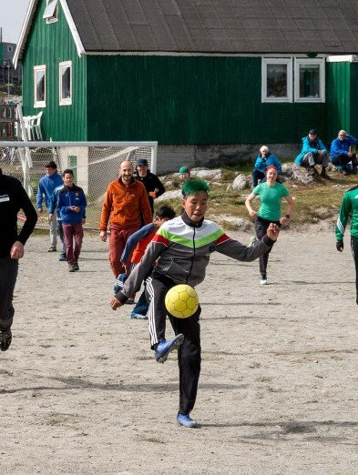 Football game, Greenland